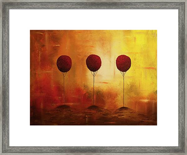 Three Alone But Together Framed Print
