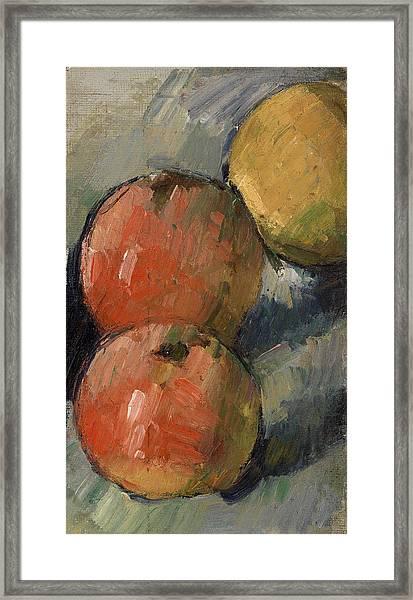 Three Apples Framed Print