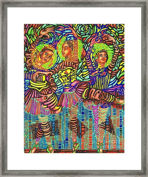 Three Ballerinas Framed Print