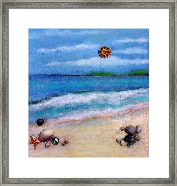 Three Beaches A Framed Print