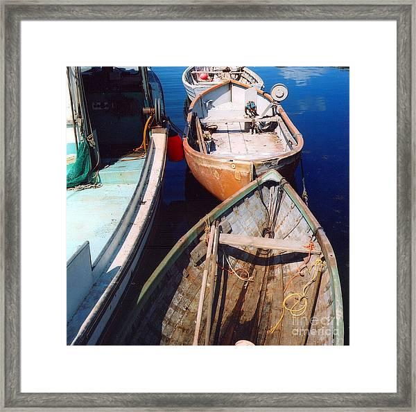 Three Boats Framed Print by Andrea Simon