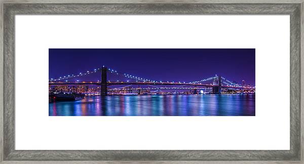 Three Bridges Framed Print