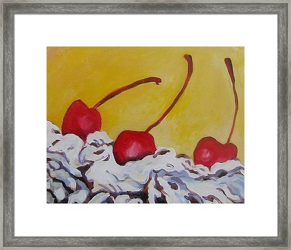 Three Cherries Framed Print