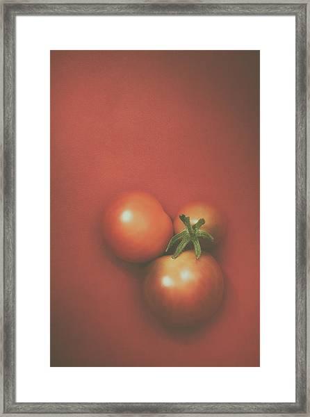 Three Cherry Tomatoes Framed Print