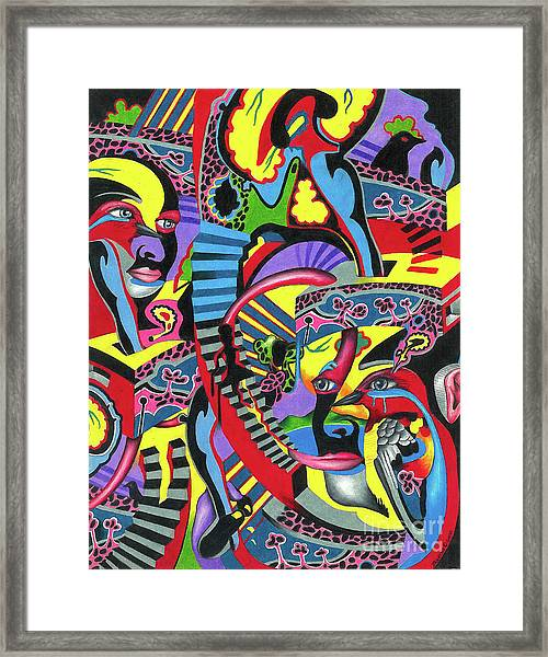 Three Disguises Of An Abstract Thought Framed Print