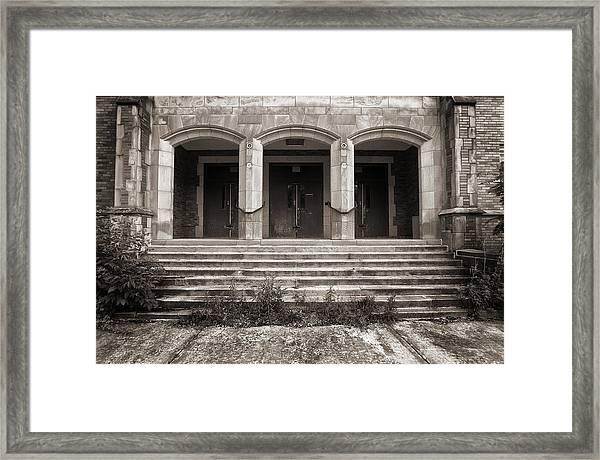 Three Doors Framed Print
