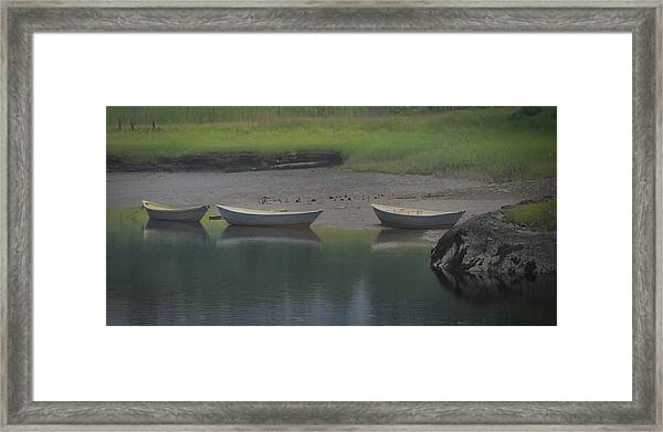 Three Dories Framed Print