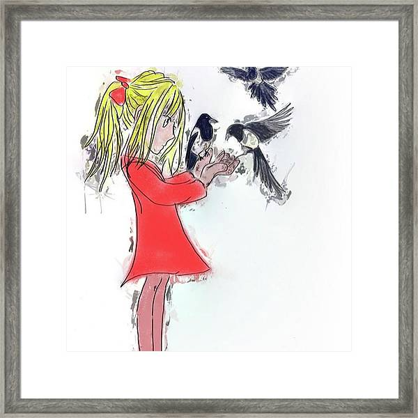 Three For A Girl - Work In Framed Print