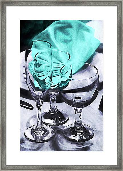 Three Glass Illusion Framed Print