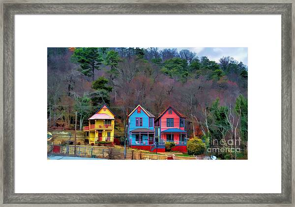 Three Houses Hot Springs Ar Framed Print