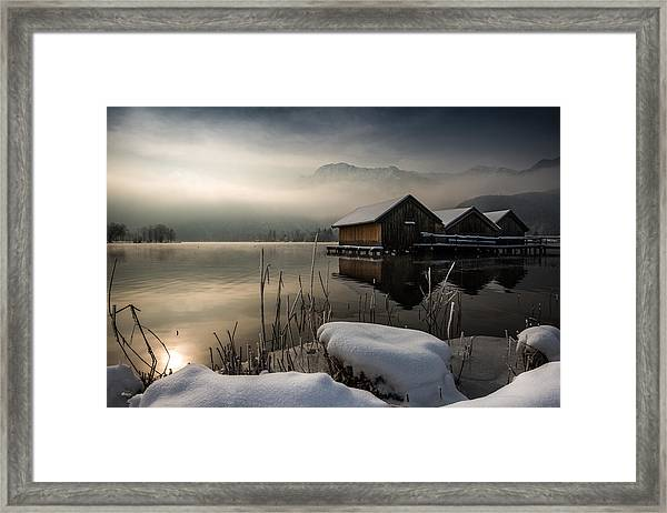 Three Huts Framed Print