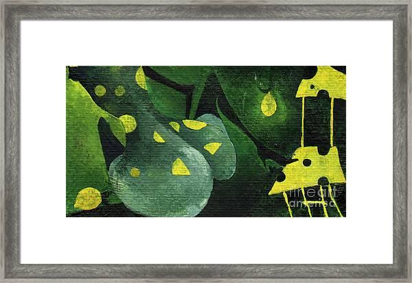 Three Lemons Framed Print by Maya Manolova