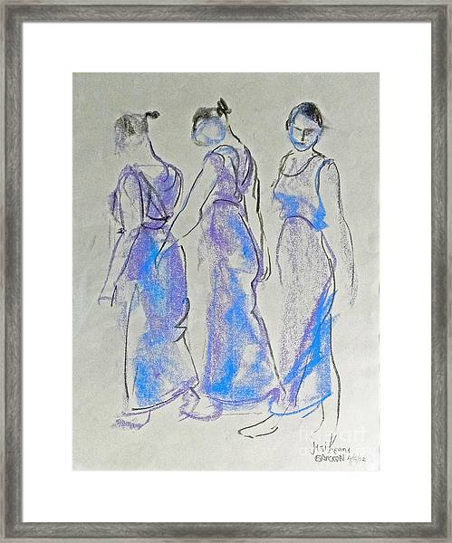 Three Minute Turning Framed Print