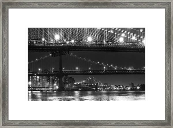 Three New York Bridges 2 Framed Print