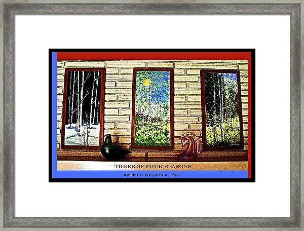 Three Of Four Seasons Framed Print