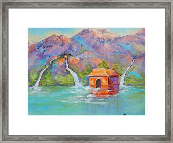 Three Sacred Waters Framed Print