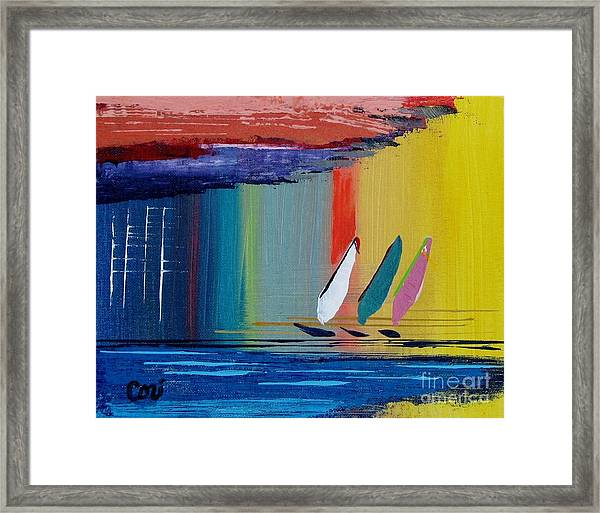 Three Sails Framed Print