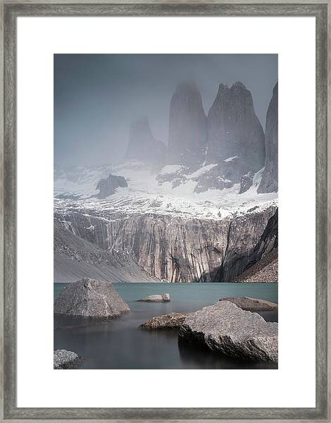 Three Towers, Chile Framed Print