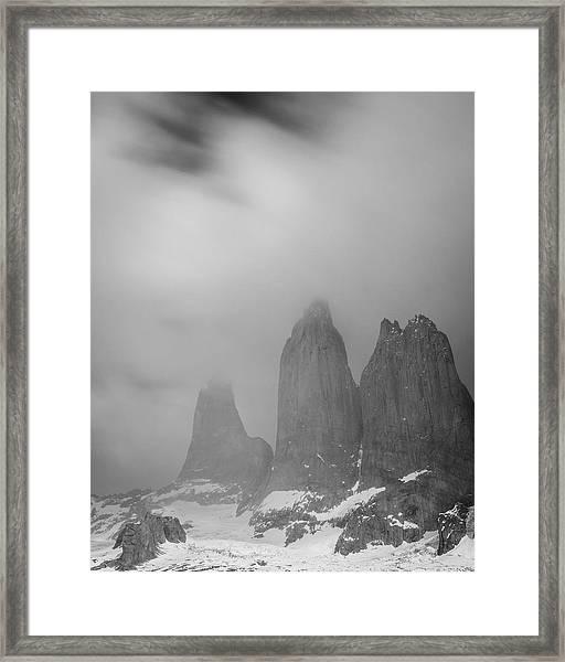 Three Towers Framed Print