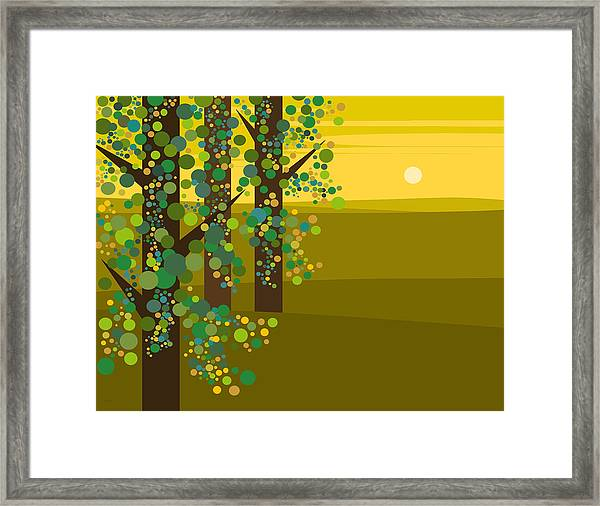 Three Trees In The Spring Framed Print