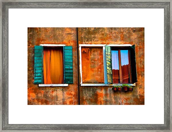 Three Windows Framed Print