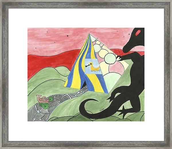 Three Wise Swans  Framed Print