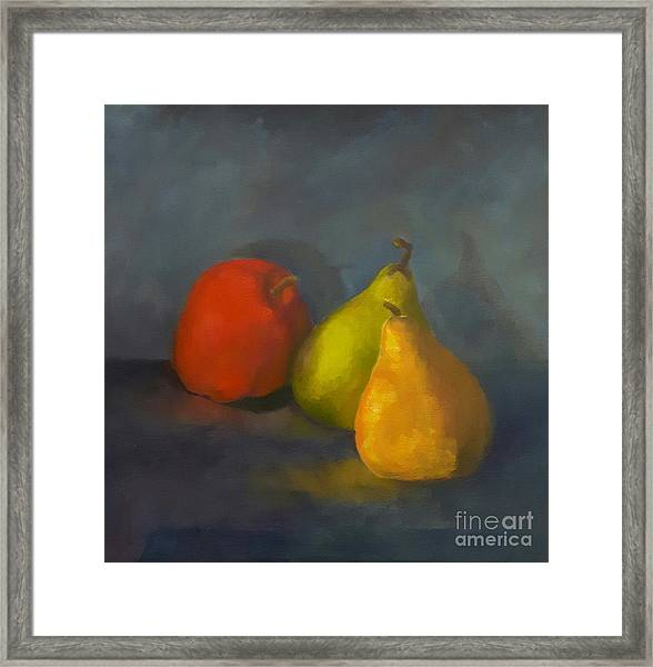 Framed Print featuring the painting Three's A Crowd by Genevieve Brown