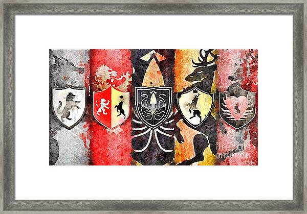Thrones Framed Print