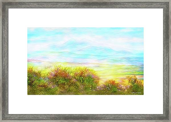 Through Mountain Mists Framed Print