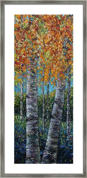 Through The Aspen Trees Diptych 1 Framed Print