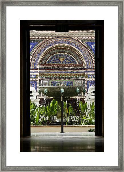 Through The Door  Framed Print