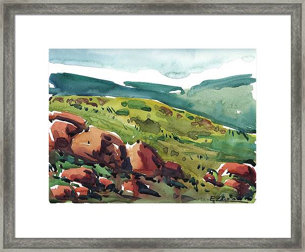 Through The Mountains Framed Print