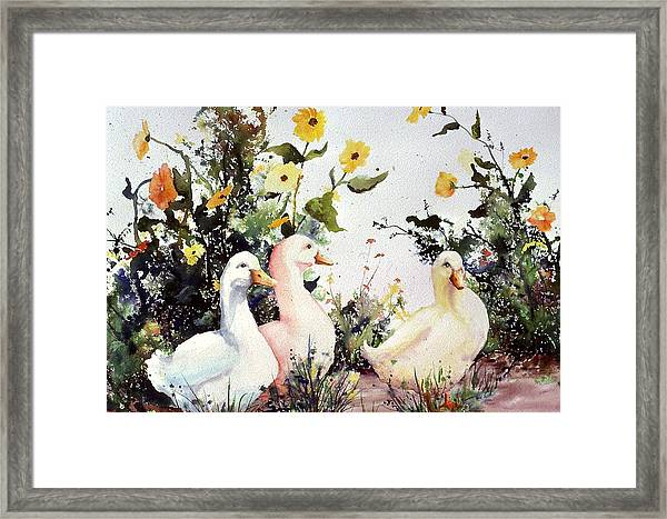 Through The Weeds Large Framed Print