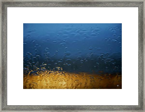 Through The Windshield Framed Print