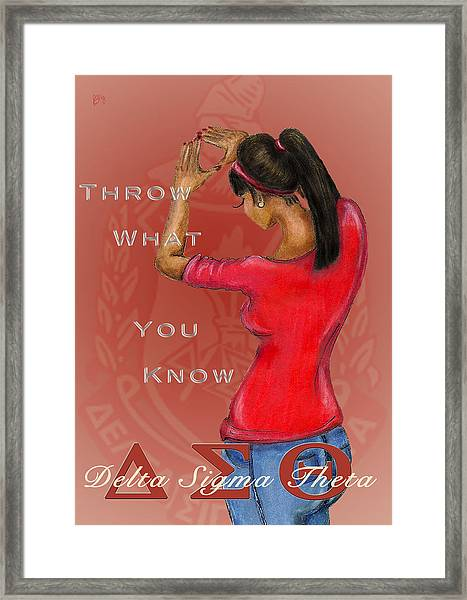 Throw What You Know Series - Delta Sigma Theta 2 Framed Print