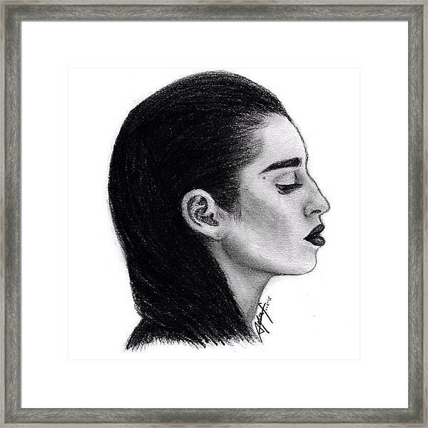 Lauren Jauregui Drawing By Sofia Furniel Framed Print