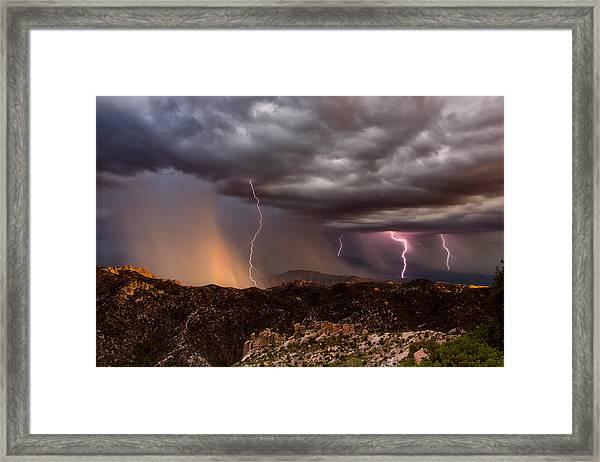 Thunder Mountain Framed Print