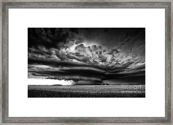 Thunder On The Prairies Framed Print