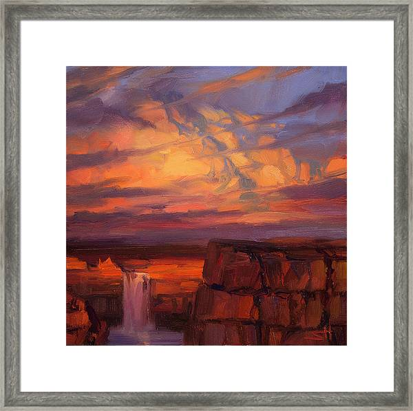 Thundercloud Over The Palouse Framed Print