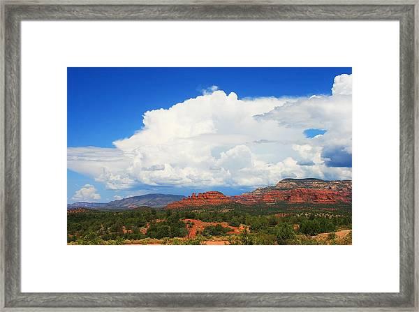 Thunderheads Forming Framed Print