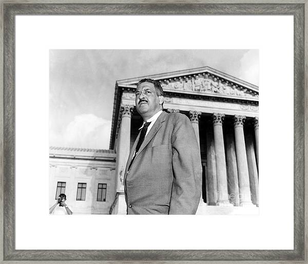 Thurgood Marshall Framed Print
