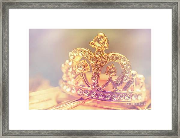 Tiara Crown With Diamonds Framed Print