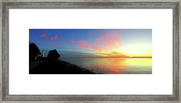 Sunset At Tibbetts Point Light, 2015 Framed Print