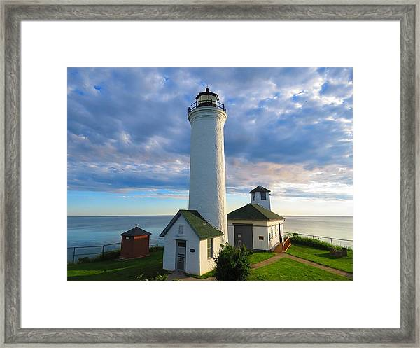 Tibbetts Point Lighthouse In June Framed Print