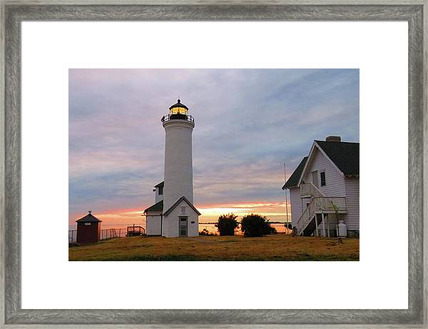 Tibbetts Point Lighthouse, July Sunset Framed Print
