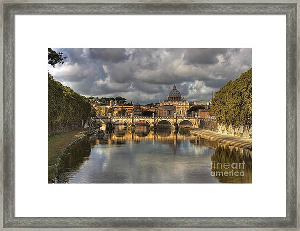 Tiber River Framed Print