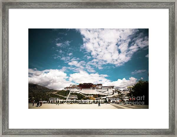 Tibet Potala Palace Dalai Lama Home Place. Kailash Yantra.lv 2016  Framed Print
