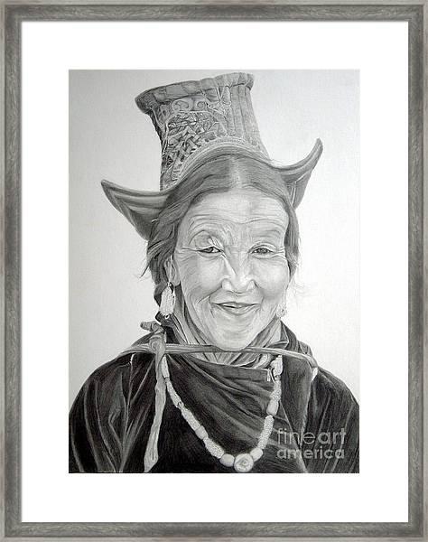 Tibetan Delight Framed Print