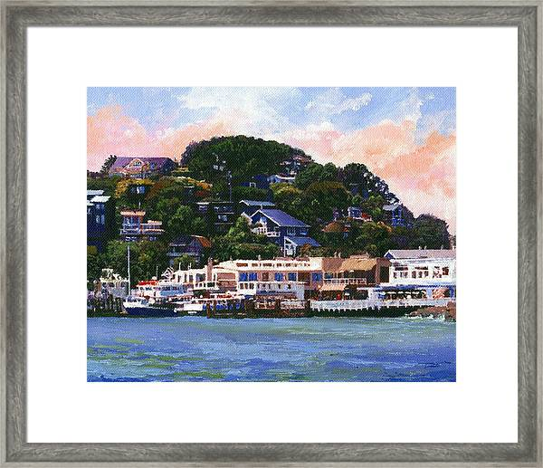 Tiburon California Waterfront Framed Print