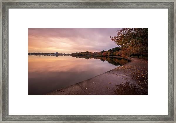 Tidal Basin In Fall 2 Framed Print by Michael Donahue